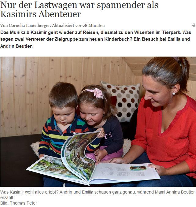 Kasimir und die Wisente in der Berner Zeitung
